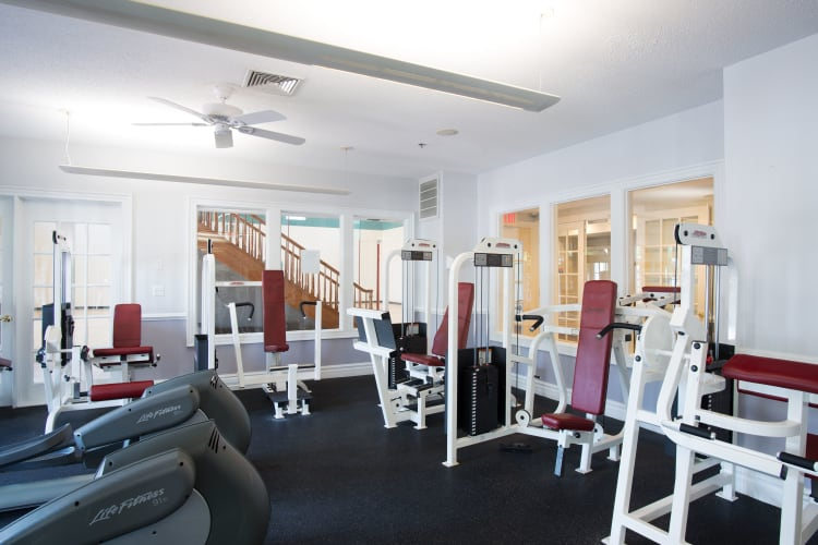 Fitness center at Ashwood Valley in Danbury