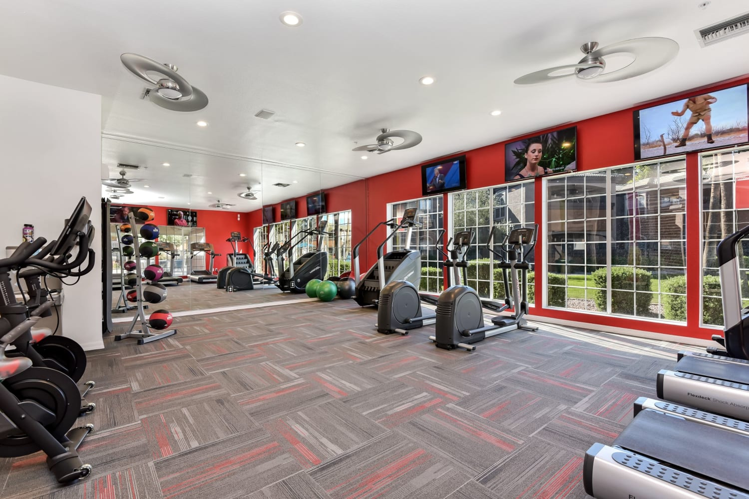 Fitness center at Luxe @ Ocotillo in Chandler, Arizona