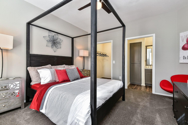 Modern and open bedroom floor plans at Luxe @ Ocotillo in Chandler, Arizona