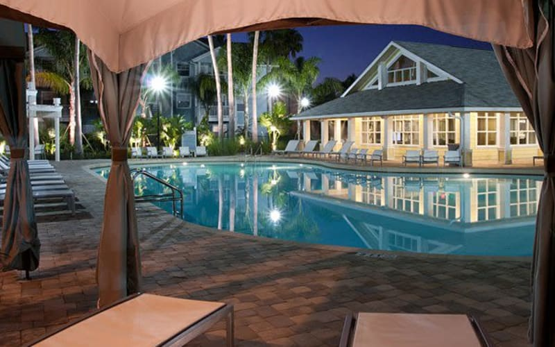Resort-style swimming pool at Abaco Key in Orlando, Florida