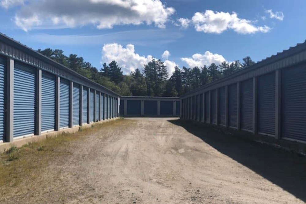 Exterior view of units at Apple Self Storage - Port Carling in Port Carling, Ontario