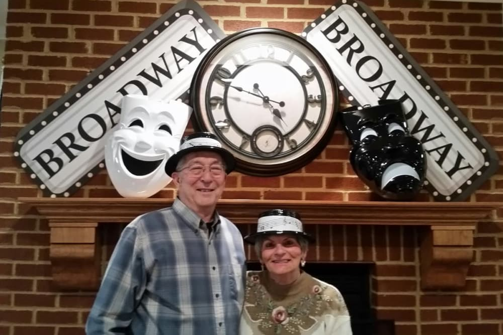A happy couple posing for a photo at Senior Living at Forest Ridge in New Castle, Indiana