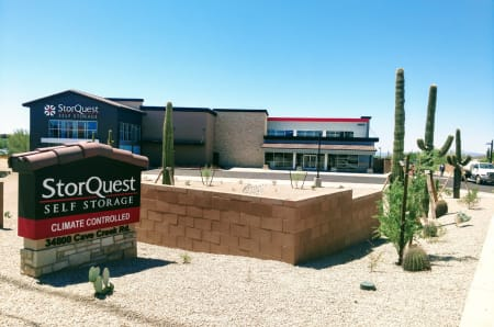 Front building view at StorQuest Self Storage in Carefree, Arizona