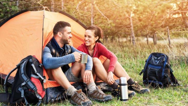 Residents camping near Carrington Oaks in Buda, Texas