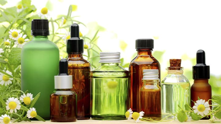 Aromatherapy oil bottles