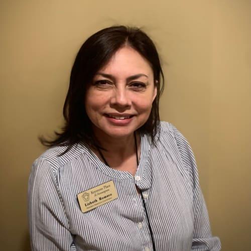 Lizbeth Romero, concierge at Keystone Place at Forevergreen in North Liberty, Iowa.