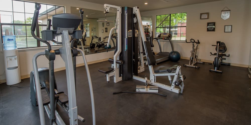 The fitness center at Waters Edge in Oklahoma City, Oklahoma