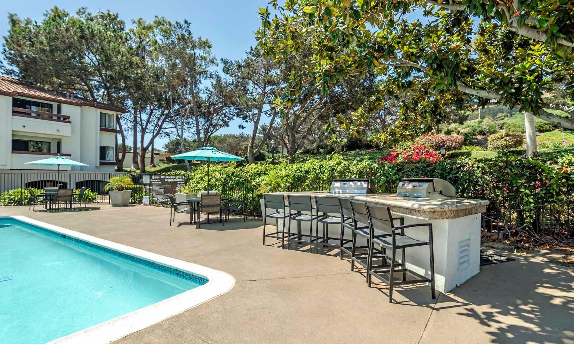 Swimming pool at Avana La Jolla Apartments