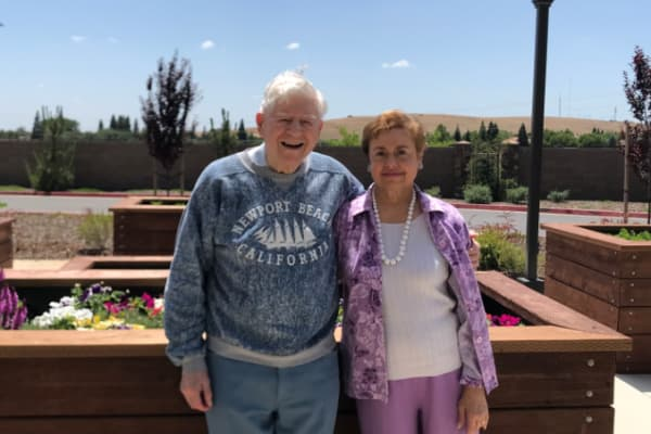 Bent and June Ericksen at El Dorado Estates Gracious Retirement Living in El Dorado Hills, California