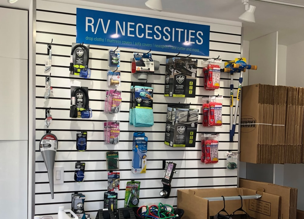 RV storage supplies for sale at South Bank Secure Storage in Rifle, Colorado