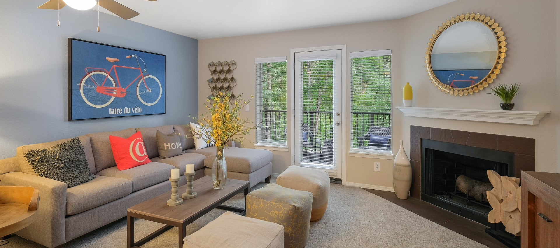 Living Room at Waterhouse Place in Beaverton, OR