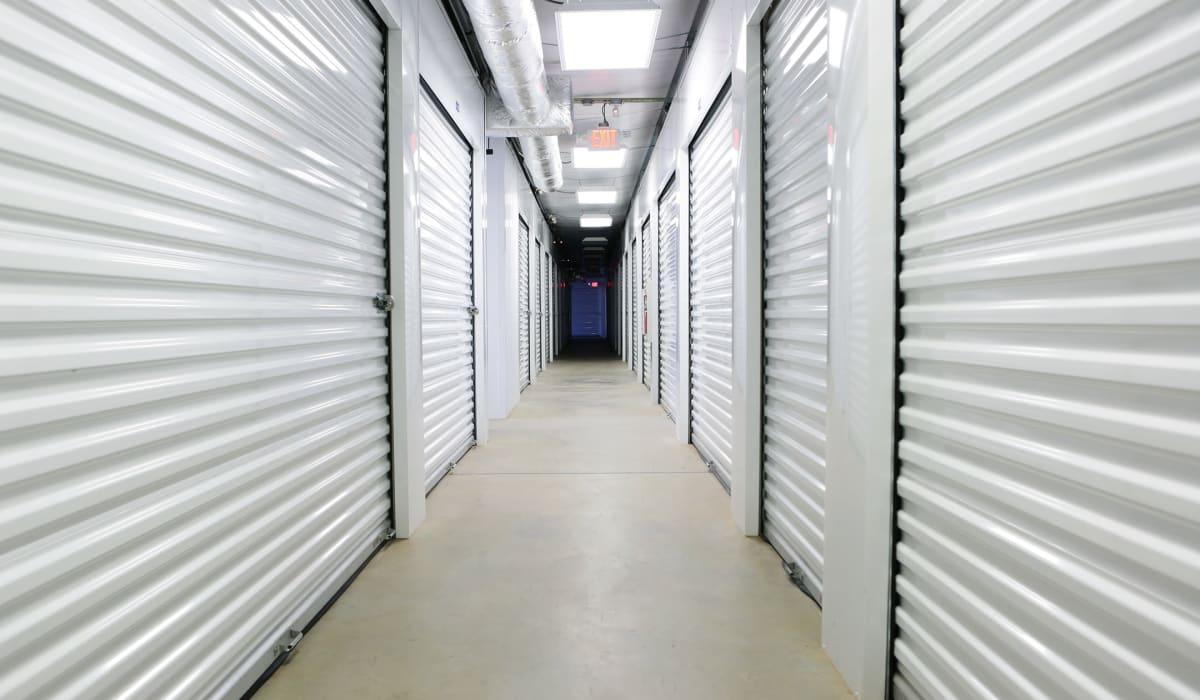Interior units at Midgard Self Storage in Midland, NC