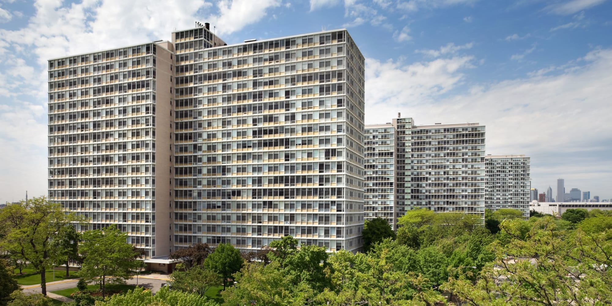 Luxury apartments at Prairie Shores in Chicago, Illinois