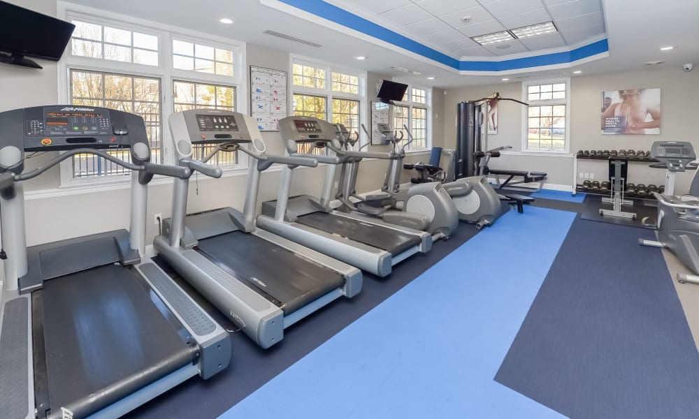 Fitness Center at Hill Brook Place Apartments in Bensalem, Pennsylvania