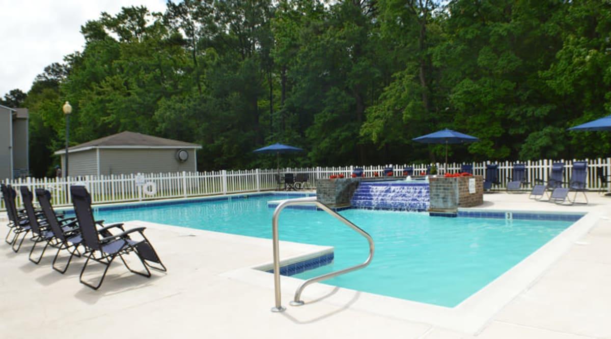 Stunning pool at Laurel Pines Apartments in Richmond, Virginia