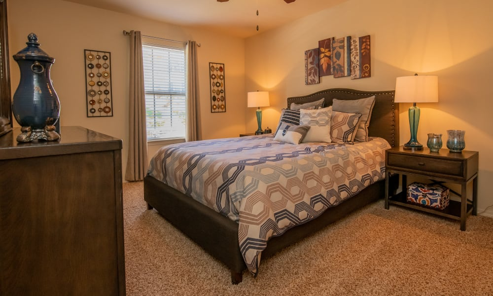 Cozy bedroom at Park at Tuscany in Oklahoma City, Oklahoma