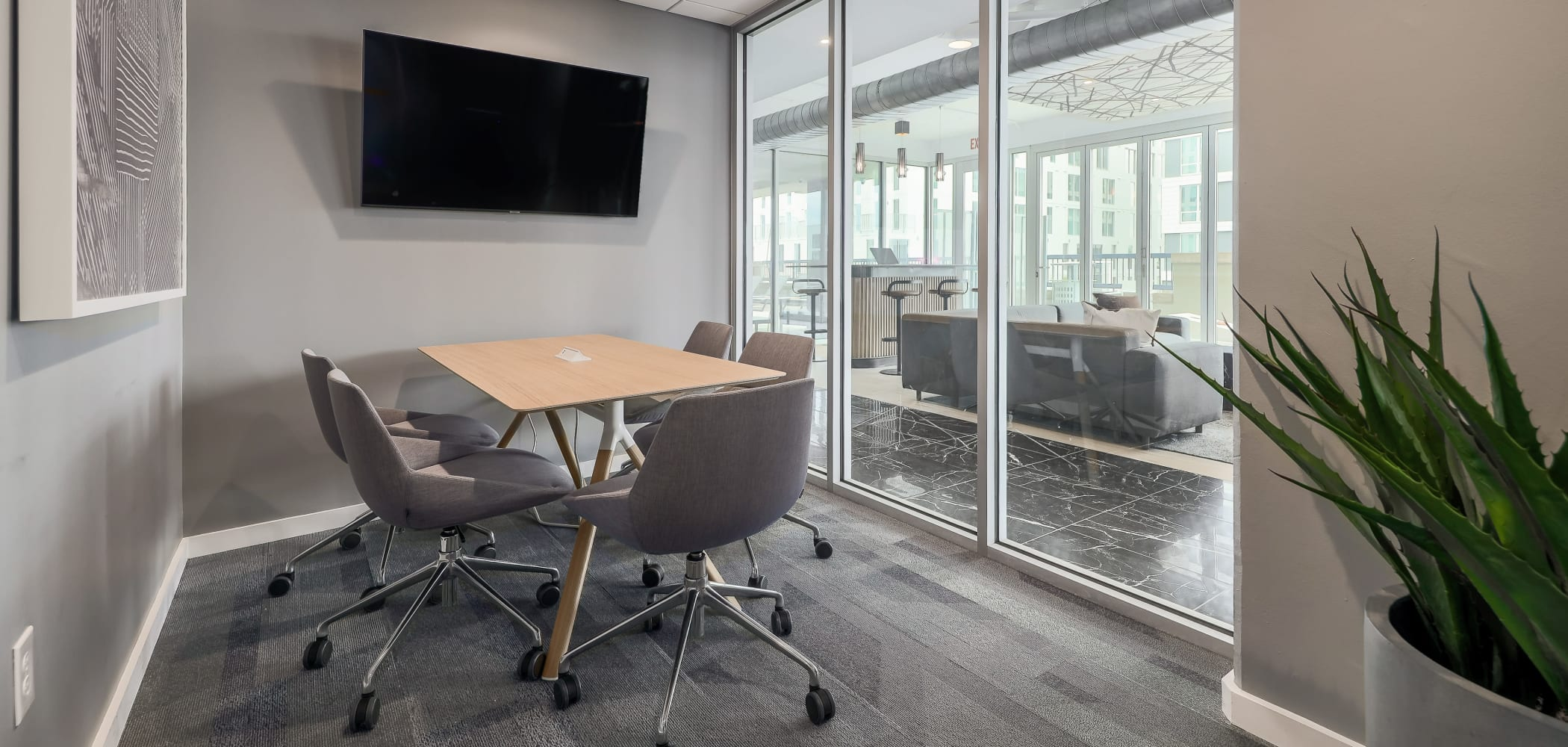 Private Study/Meeting Room at 21 Rio | Student Apartments in Austin, Texas
