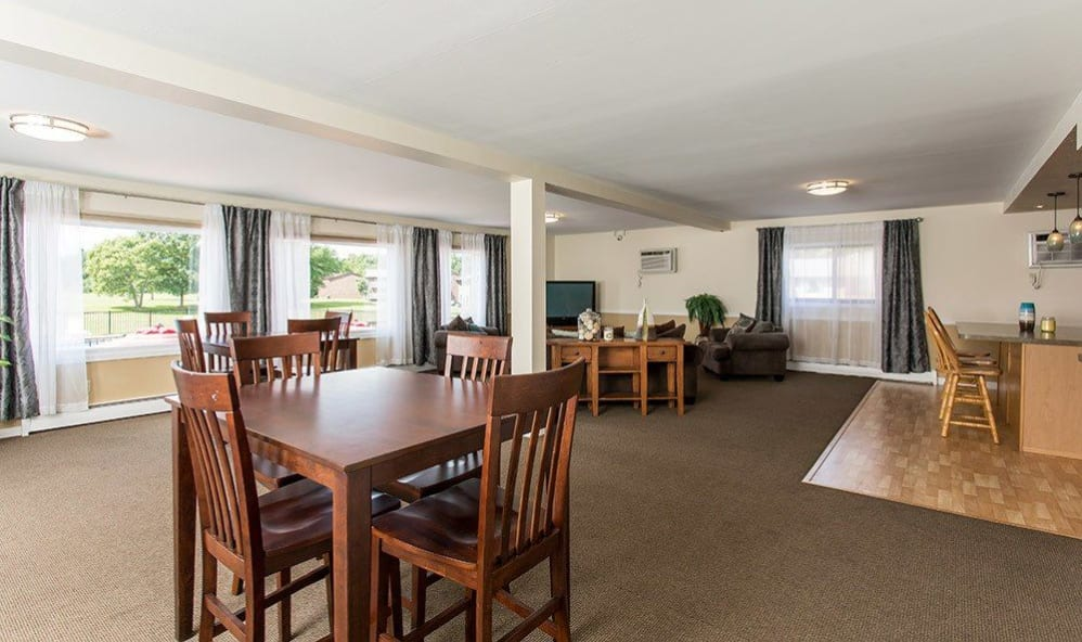 Clubhouse interior at High Acres Apartments & Townhomes in Syracuse, New York