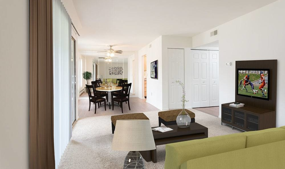 Ample space at Steeplechase Apartments home in Camillus, New York