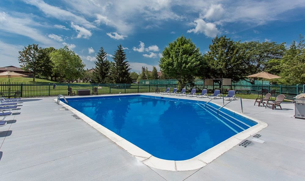 Refreshing pool at Steeplechase Apartments in Camillus, New York