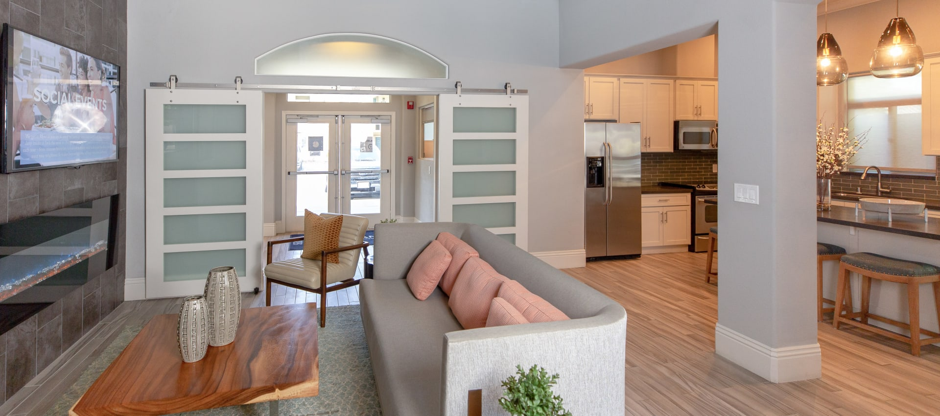 Clubhouse area at Wolf Ranch Condominium Rentals in Sacramento
