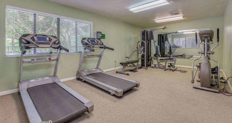 fitness center at Cypress Cove