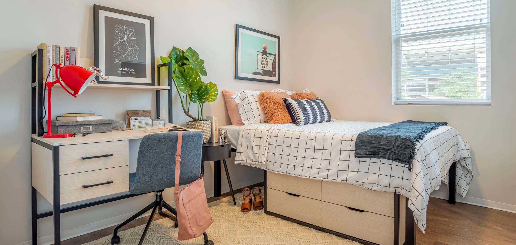 Bright bedroom with a view at UNCOMMON Tuscaloosa in Tuscaloosa, Alabama
