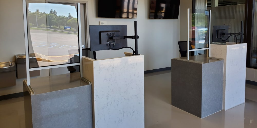 The front desk at Devon Self Storage in Pearland, Texas