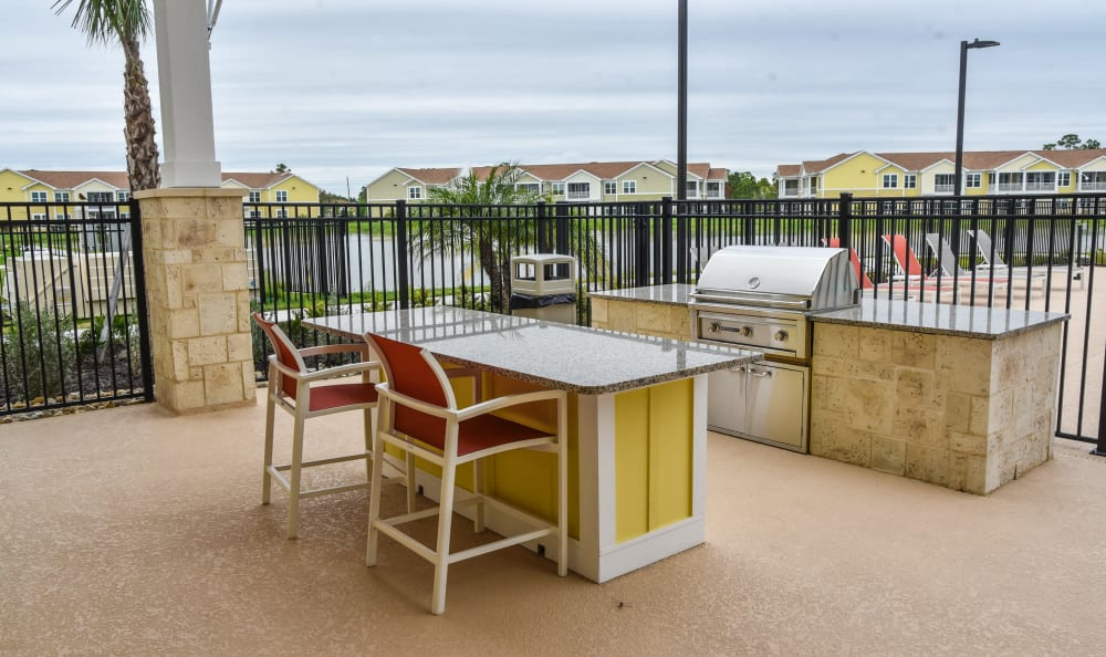 Grilling area at Springs at Port Charlotte in Port Charlotte