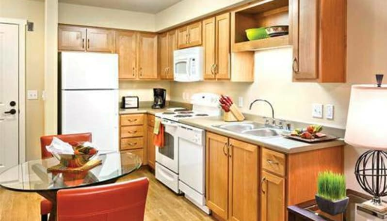 Fully-equipped kitchens at Affinity at Coeur d'Alene