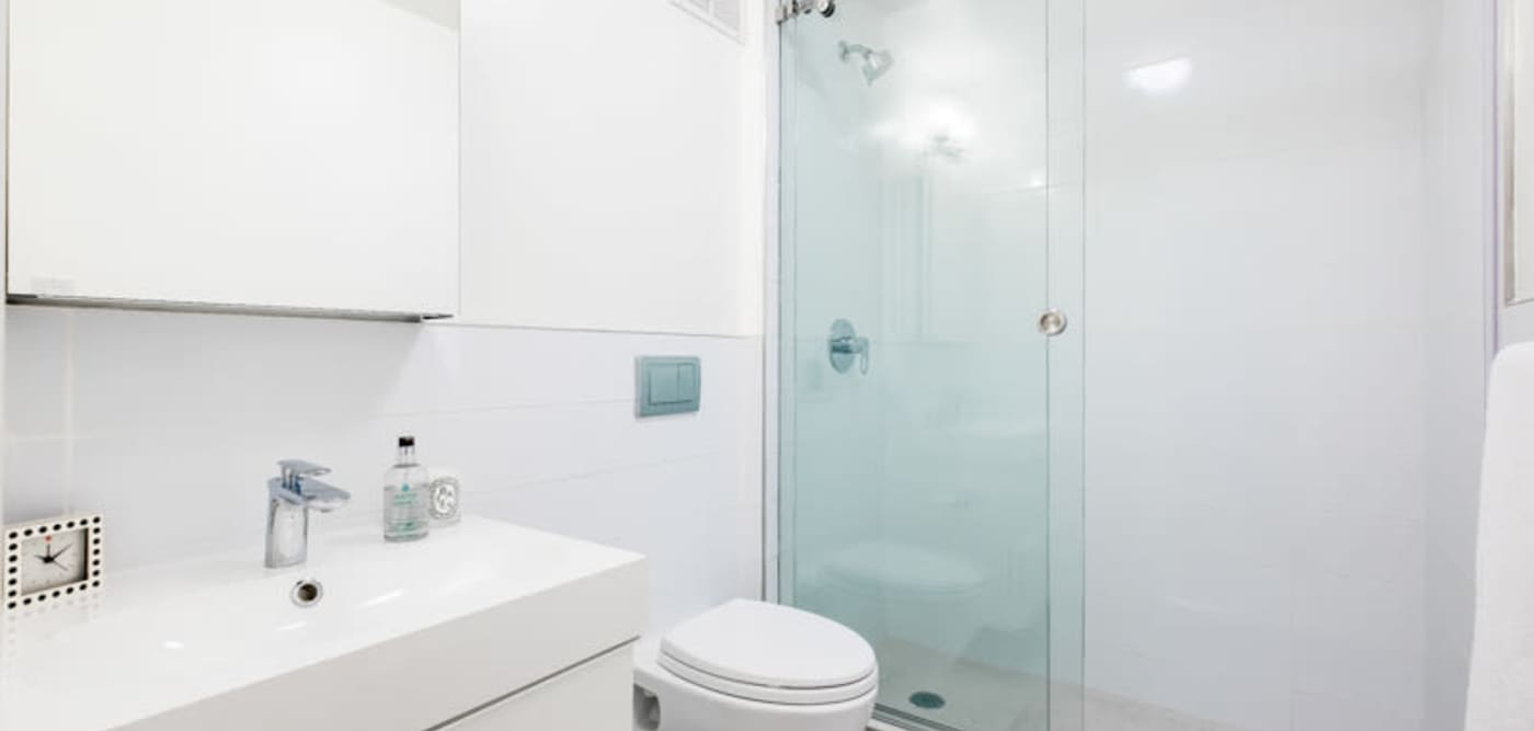 Modern-style bathroom at 210-220 E. 22nd Street in New York, New York