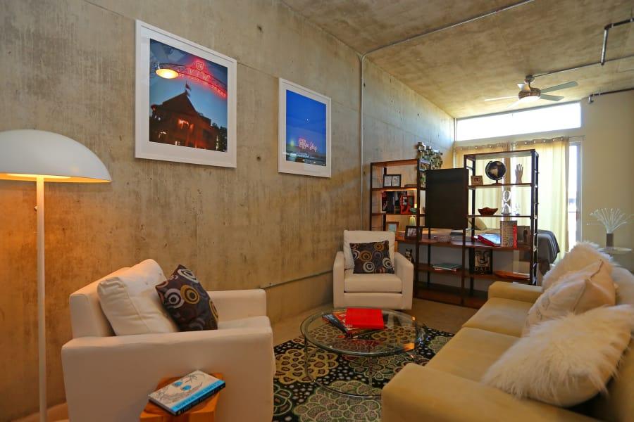Living room at 1221 Broadway Lofts