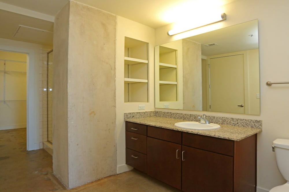 Bathroom at 1221 Broadway Lofts