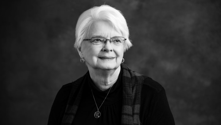 Portrait of Carolyn Nelson, taken by photographer Kyle Martin in 2020.