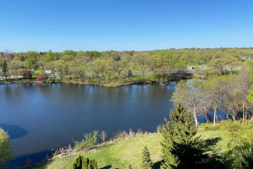 Pond views at Aurora on France in Edina, Minnesota.