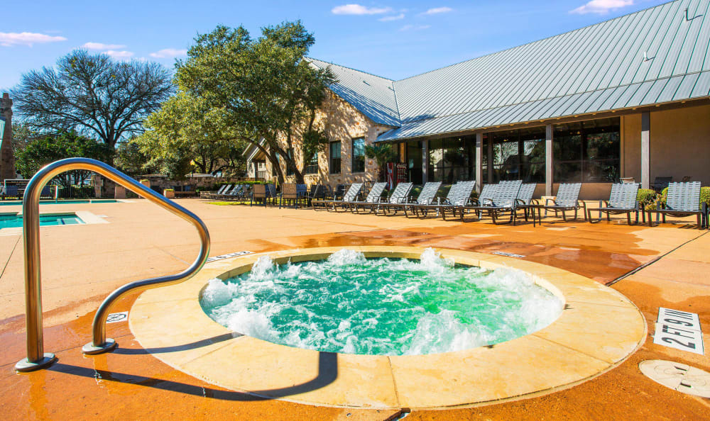 Spa area near the pool at Riata Austin in Austin, Texas