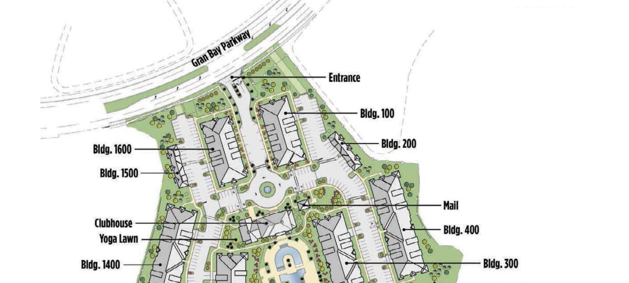Palm Bay Club site plan