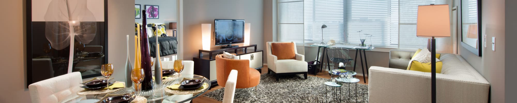 Floor plans at Solaire 1150 Ripley in Silver Spring, Maryland