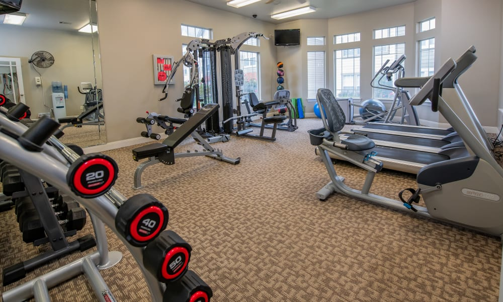 Fitness center for residents at Colonies at Hillside in Amarillo, Texas
