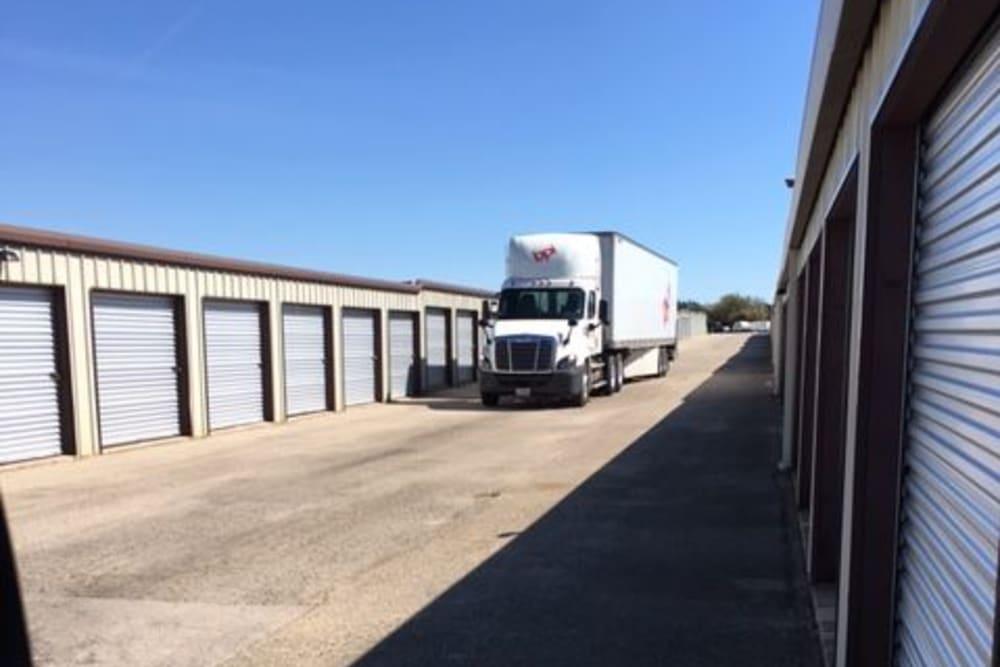 18 wheeler at A3 Storage Centers in Cedar Park, Texas