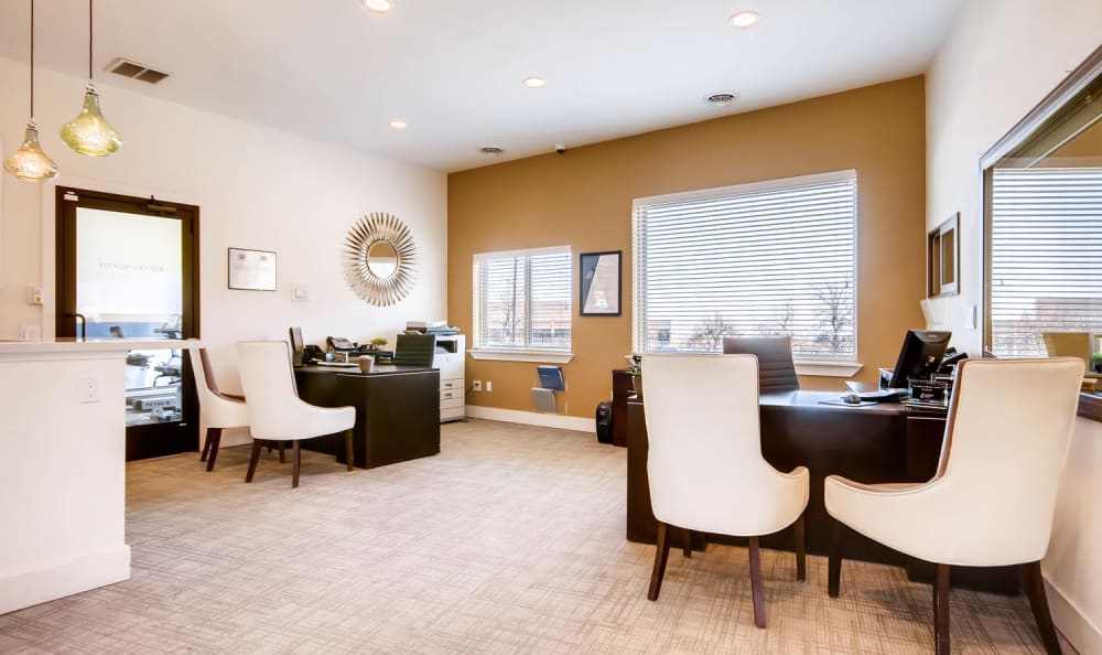 Contemporary leasing office at Mountain Vista in Lakewood, Colorado