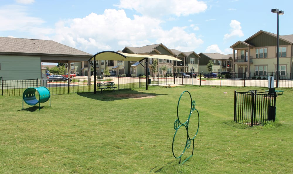 Large Leash Free Dog Park at Springs at Creekside in New Braunfels, TX