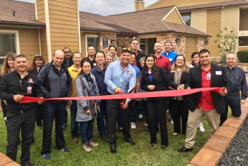 Westport Apartments ribbon cutting ceremony in Angleton, Texas