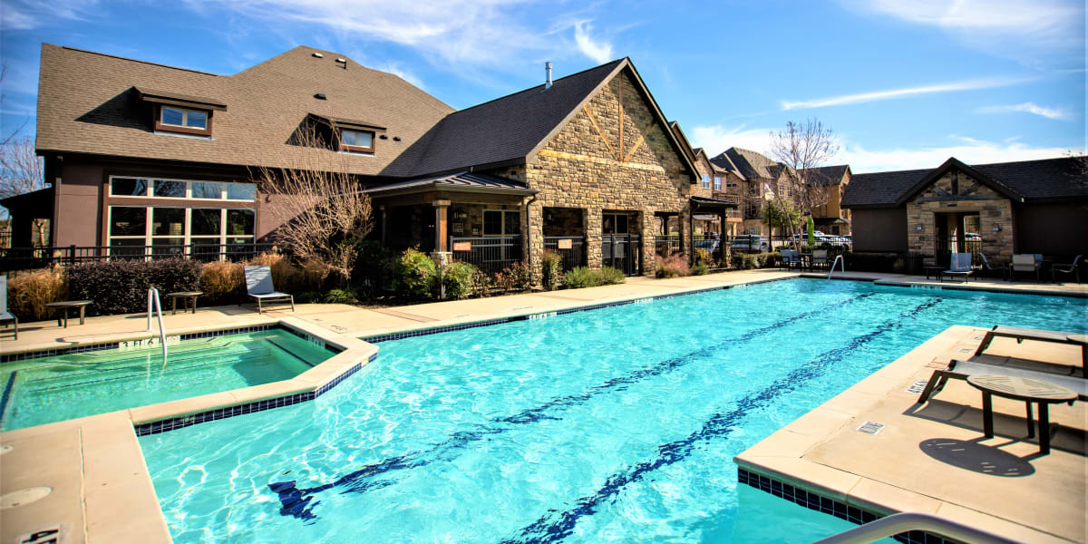 Resort-worthy swimming pool at Enclave at Grapevine in Grapevine, Texas