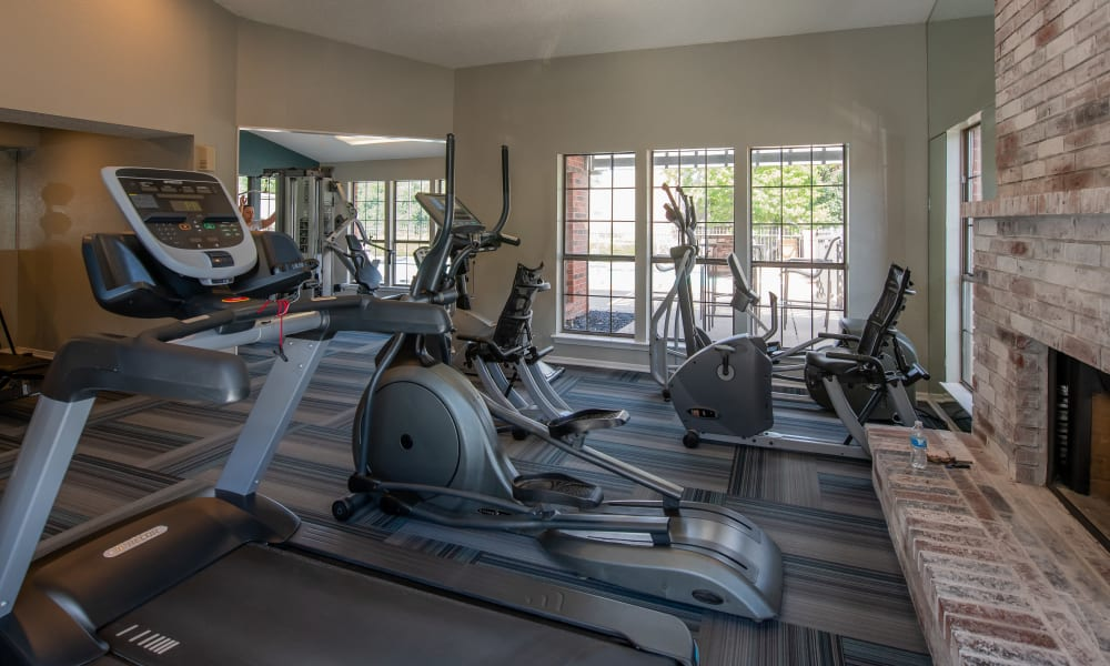 Fitness Center at Creekwood Apartments in Tulsa, Oklahoma