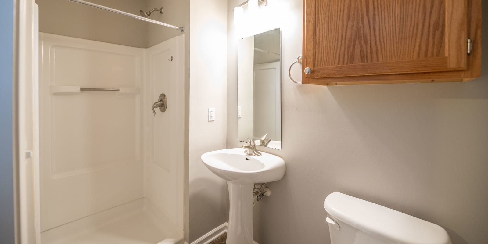 Bright Bathroom at The Village at Brierfield Apartment Homes in Charlotte, North Carolina