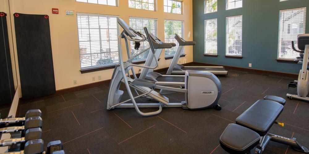 The fitness center at Tuscany Hills in Tulsa, Oklahoma