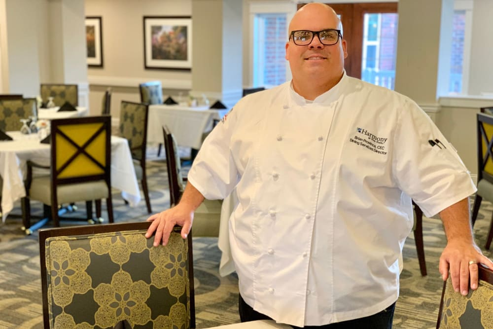 Delicious meals prepared by a chef at Harmony at Elkhart in Elkhart, Indiana