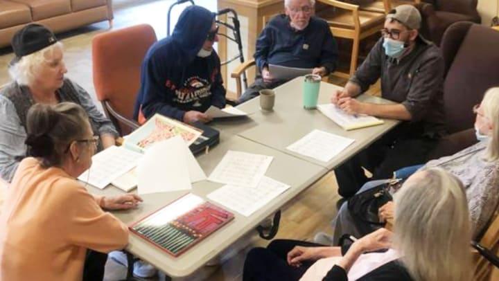 Residents of memory care help plan weekly menu