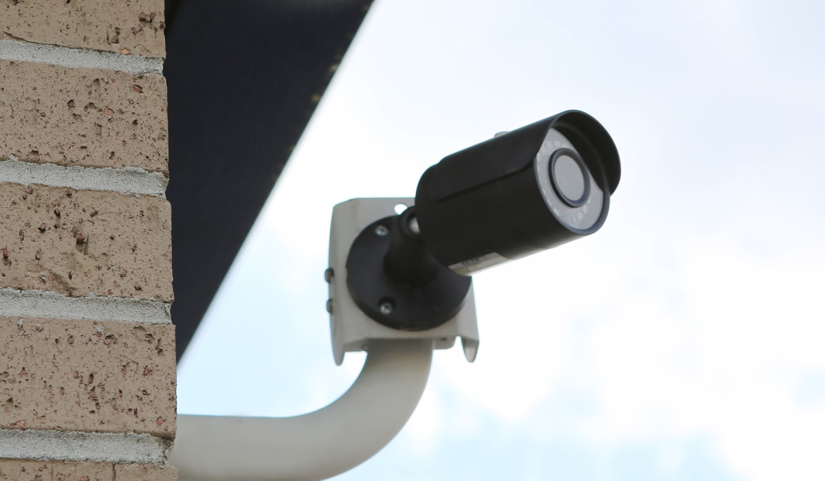 Security camera at Midgard Self Storage in Savannah, GA